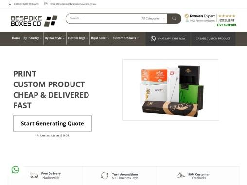 Get 100% Premium Bespoke Boxes | Custom Printed Boxes UK.