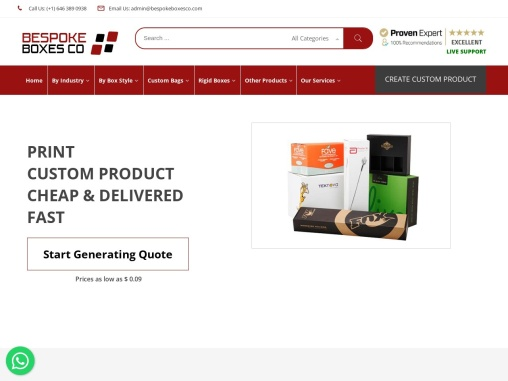 Premium Bespoke Boxes Manufacturers | High Quality Bespoke Boxes USA