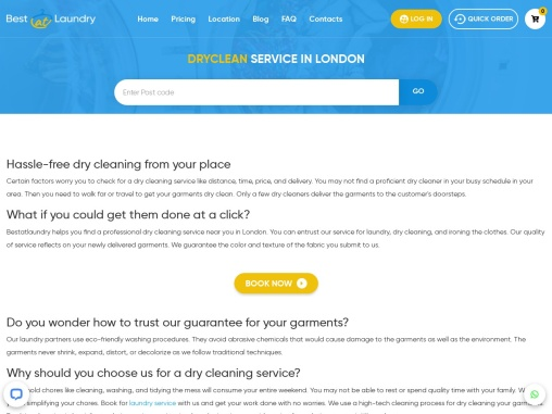 Dry cleaning service – Bestatlaundry