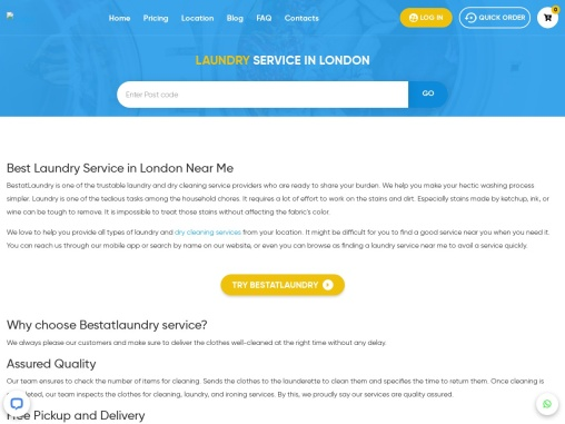 Laundry Service in London – BestatLaundry