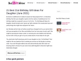 21st birthday gift ideas for daughter
