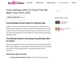 Funny Birthday Gifts for friends