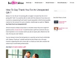 How to say thank you for an unexpected gift