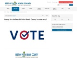 voting for the best of palm beach county is under way