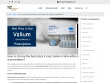 How to choose the best place to buy Valium online without a prescription?