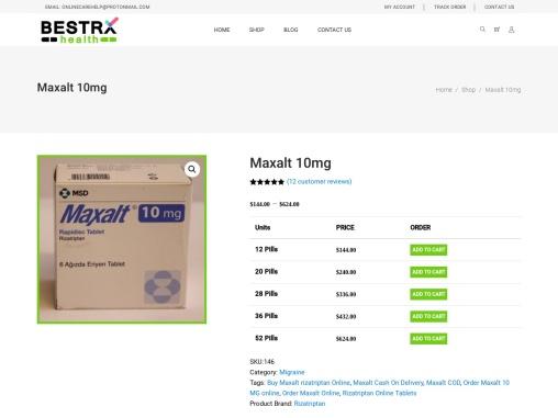 Maxalt rizatriptan Online | Order Maxalt 10MG online COD USA