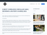 9 BEST CORDLESS CIRCULAR SAW | REVIEWS & BUYER'S GUIDE| 2021