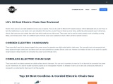 UK'S 10 BEST ELECTRIC CHAIN SAW REVIEWED