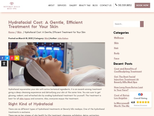 Get hydrafacial  treatment in los angeles