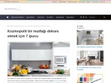 Kozmopolit bir mutfağı dekore etmek için 7 ipucu