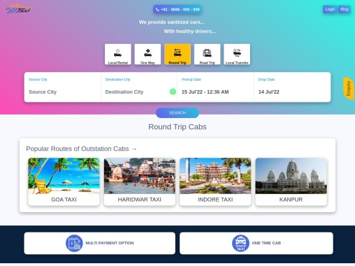 Outstation Cab Booking with Affordable Fare