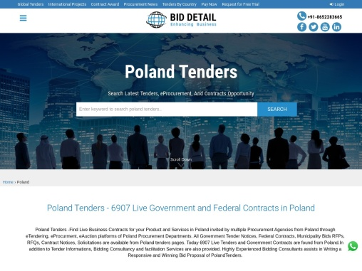 Tenders information from Poland Goverment