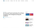 US Visa and Travel restrictions for all (non-immigrant and immigrant) during the COVID-19