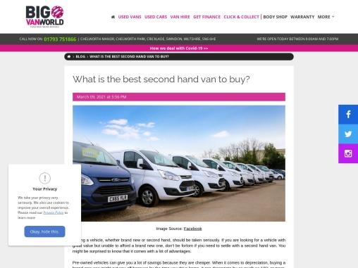 Best second hand van to buy – Big Van World