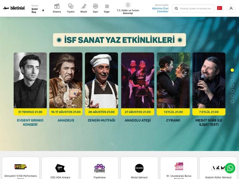 Biletinial screenshot