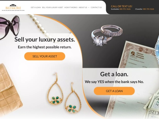 Sell Your Jewelry to Us – Collateral Loans in Phoenix | Biltmore Loan