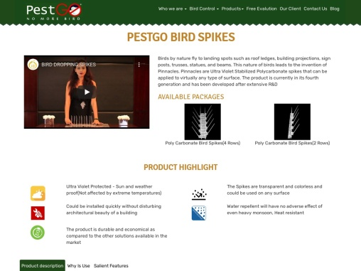 Bird Spikes Manufacturer, Suppliers & Exporters in India