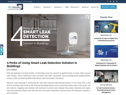 4 Perks of Using Smart Leak Detection Solution in Buildings