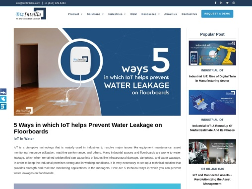 5 Ways in which IoT helps Prevent Water Leakage on Floorboards