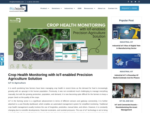 Crop Health Monitoring with IoT-enabled Precision Agriculture Solution