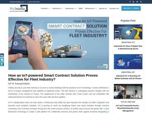 How an IoT-powered Smart Contract Solution Proves Effective for Fleet Industry?