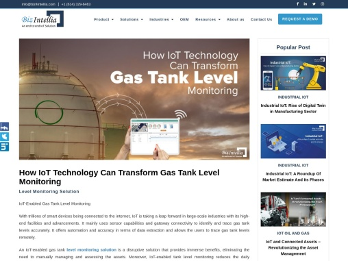 How IoT Technology Can Transform Gas Tank Level Monitoring