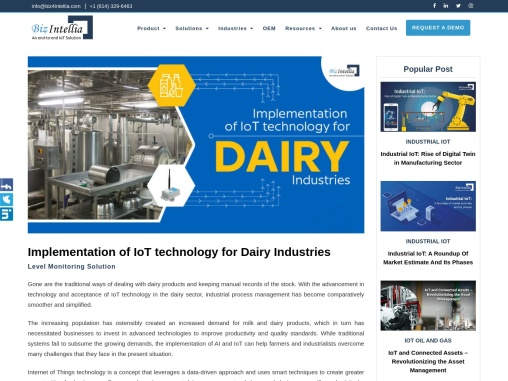 Implementation Of IoT Technology For Dairy Industries