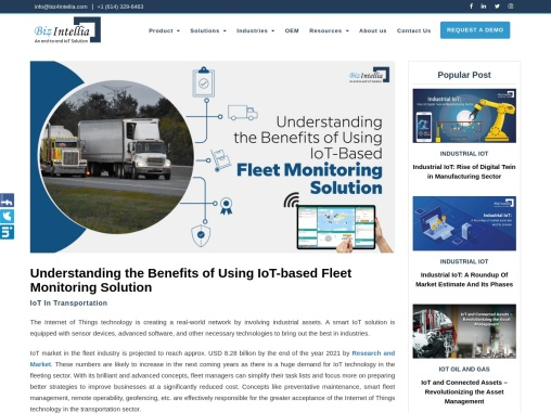 Understanding The Benefits Of Using IoT-Based Fleet Monitoring Solution