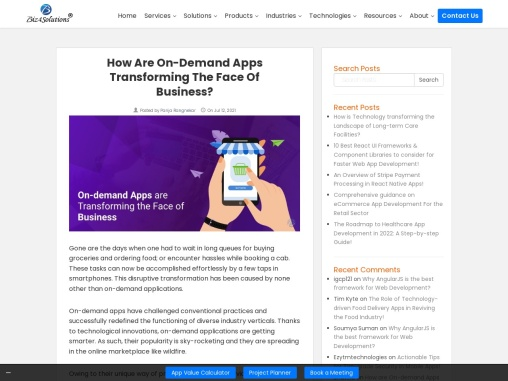 The transformative power of on-demand applications!