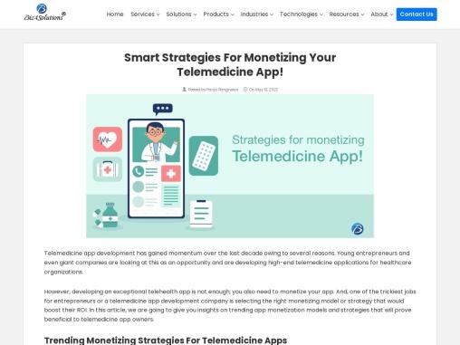 How should you monetize your Telemedicine Application?