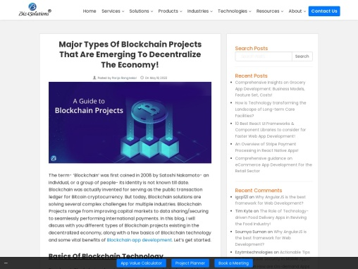 Blockchain projects: Guidance for emerging technology