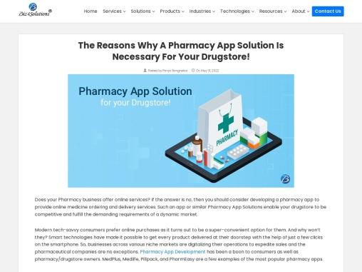 Pharmacy app solution for your drugstore