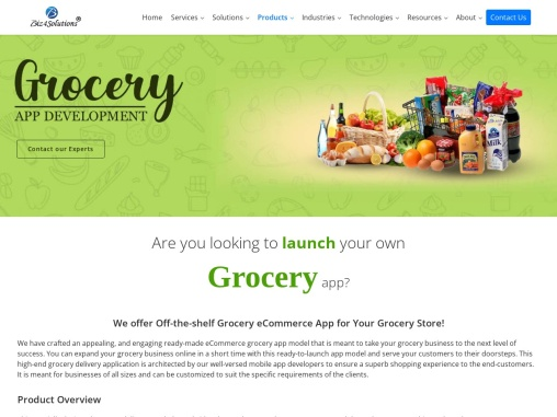 Grocery App Development Company in USA and India