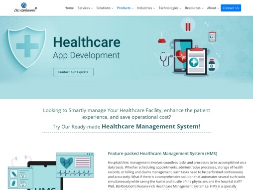 Healthcare App Development Company in USA and India!