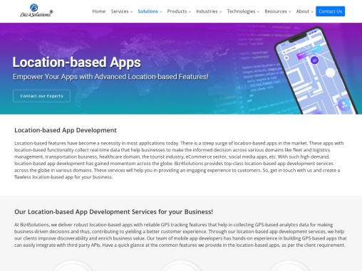 Location based app development in USA