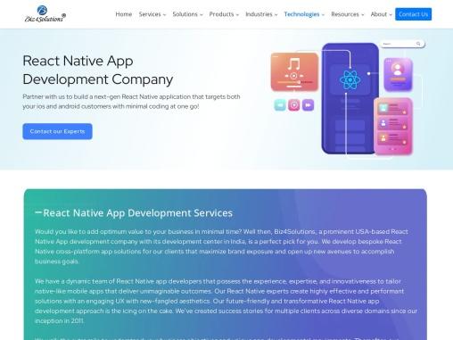 React Native Development Company in USA