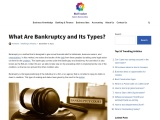 What is Bankruptcy and its types?