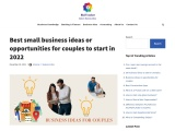 Top 36 business ideas for couples
