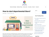How to start a departmental store?