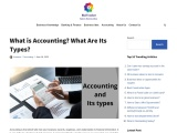 What is accounting and its types?