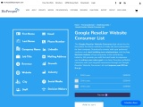 Google Reseller Website Consumer  Database