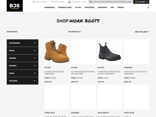 High Quality Work Boots Online
