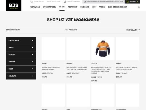 High Quality Hi Vis Workwear from BJs Work Wear
