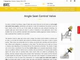 Angle Seat Control Valve Supplier, Manufacturer & Exporter