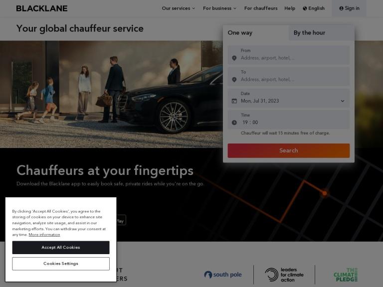 Blacklane screenshot