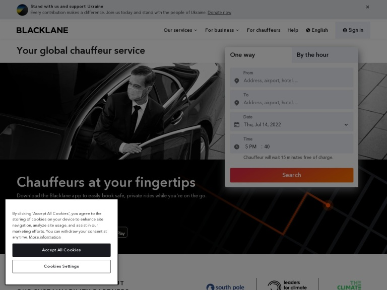 Codice sconto Blacklane screenshot