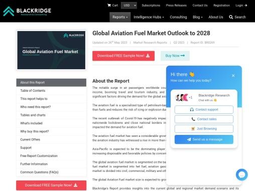 Global Aviation Fuel Market Outlook