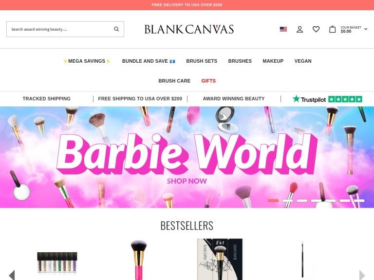 Blank Canvas Cosmetics UK screenshot