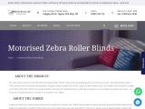 Motorised Zebra Roller Blinds | Blinds Direct LTD