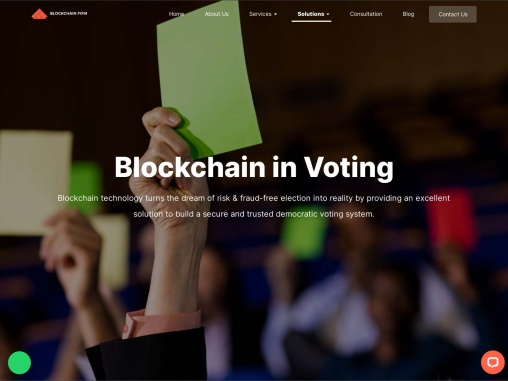 Blockchain Technology In Voting System